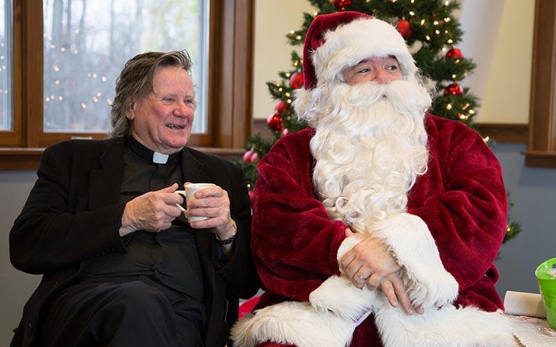 Fr. Pat and Santa